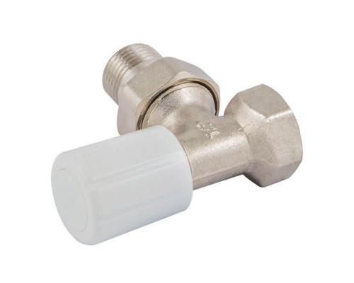 Ручной терморегулирующий вентиль Standard с  муфтой, угловой, DN 15 1/2 GZ * 1/2 GW