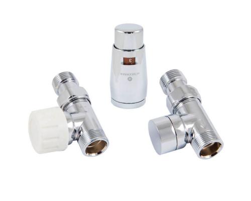 Термостатический комплект Elegant Mini GZ1/2 x M22x1,5 прямой, хром с головкой Мини M30x1,5
