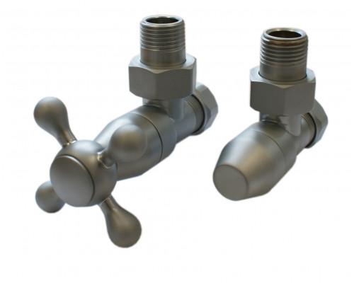 Термостатический комплект Elegant Style 6048 для пластика GZ 1/2 х 16х2 с угловой формой, сатин