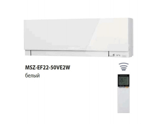 Design Inverter MSZ-EF25VE2W/MUZ-EF25VE цв.белый 2,5/3,2 (25м2)