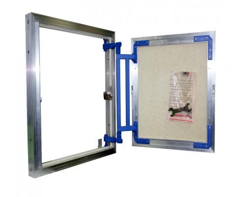 люк нажимной под плитку алюминиевый серия AL-KR 100*40